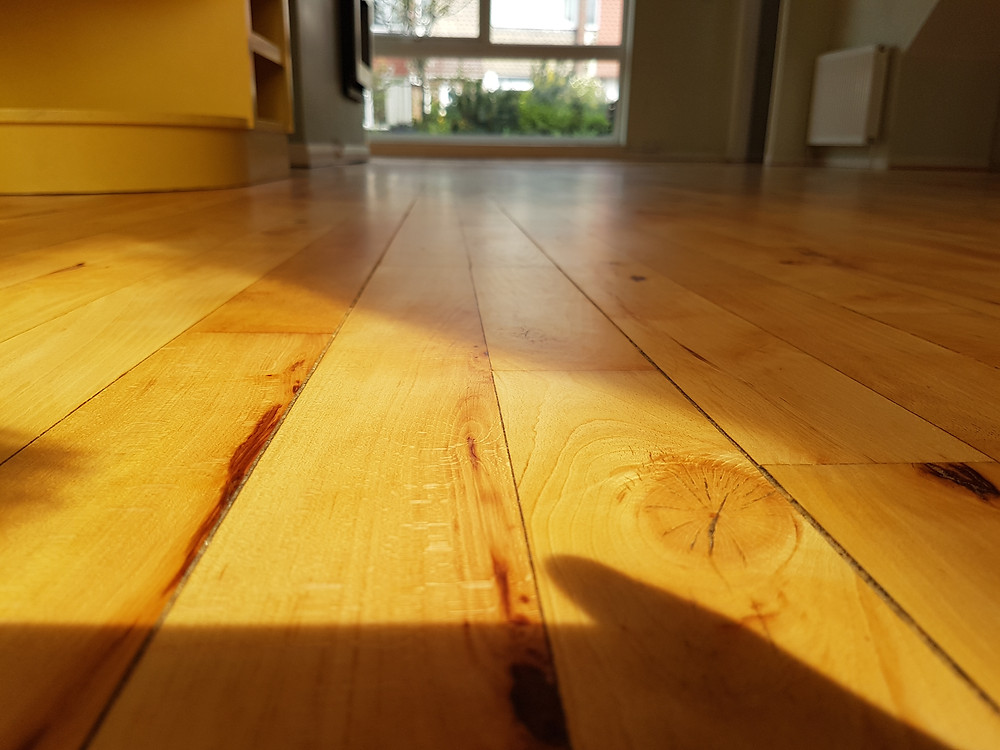 Beautiful maple floor.