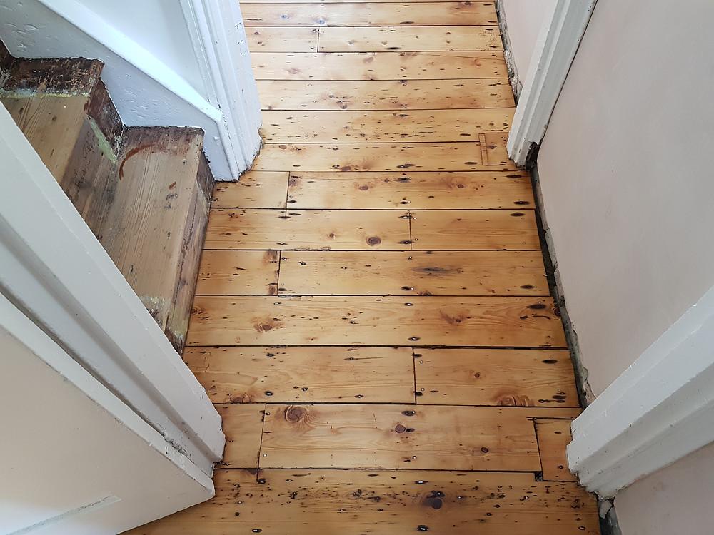 Oiled hallway floor sanding Cambridgeshire