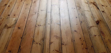 pine floor sanded and lacquered