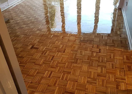 sand and hardwax oil
