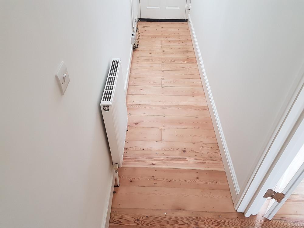 Sanded back pine floor sanding cambridgeshire