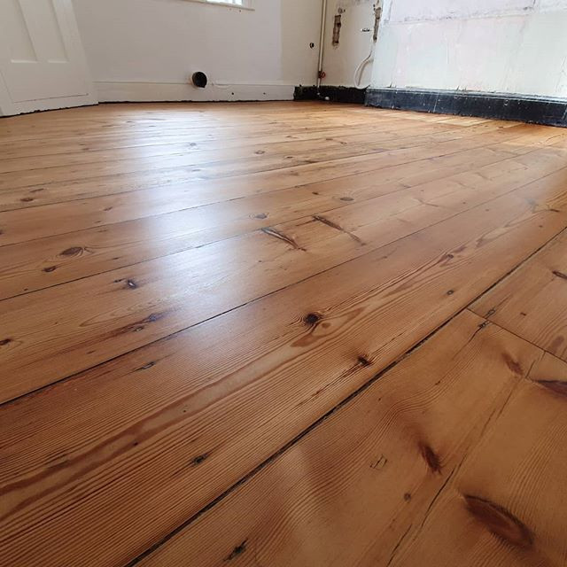 This 200 year old pine floor sanded and oiled