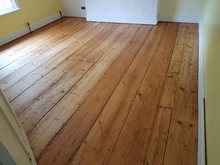 Pine floor with full metal jacket.400 years old