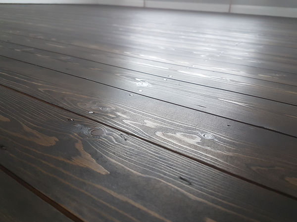 Pine flor stained gry by timeless floor restorations