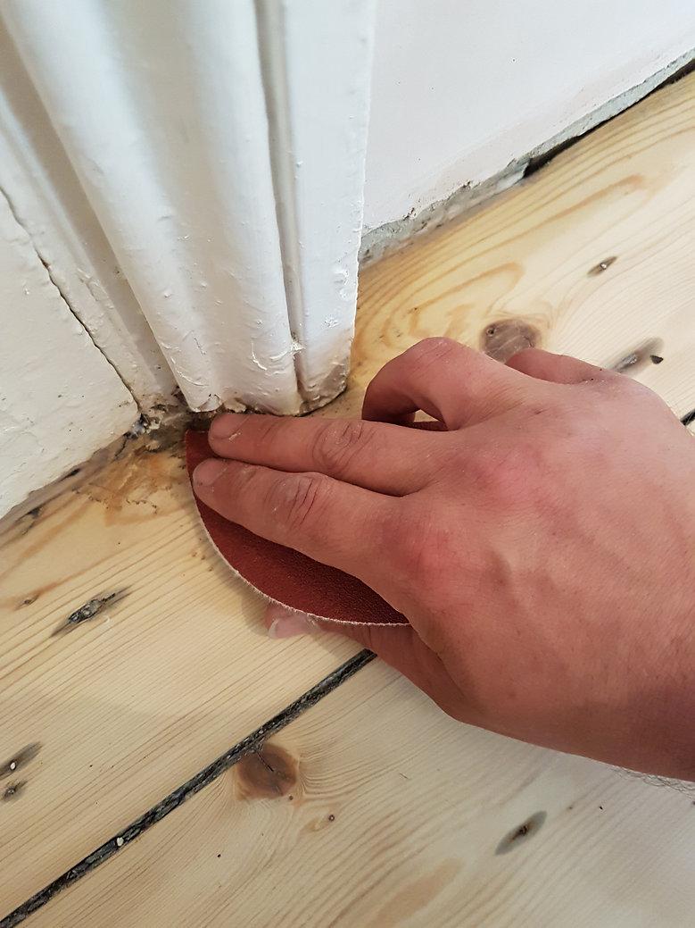 Timeless Floor Restorations Hand sanding