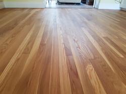 Oak wood strip floor