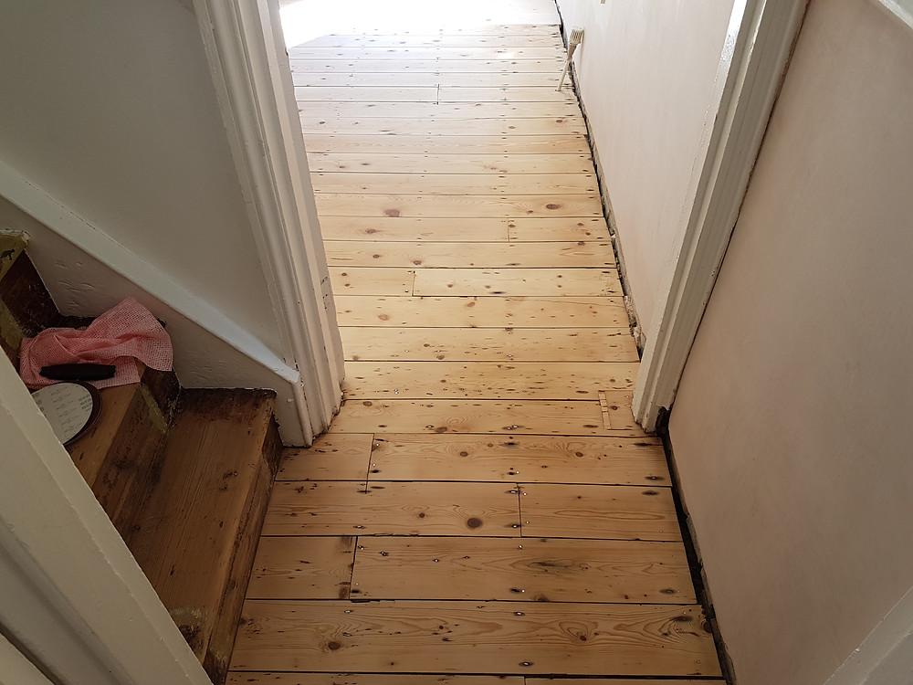 Sanded back pine hall Cambridgeshire