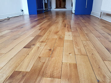 Oak floor sanded and oiled by timeless foor restorations