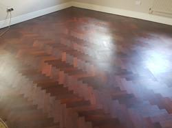 oxblood red floor