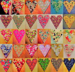 MBL ORIGAMI HEARTS PATTERN DESIGN