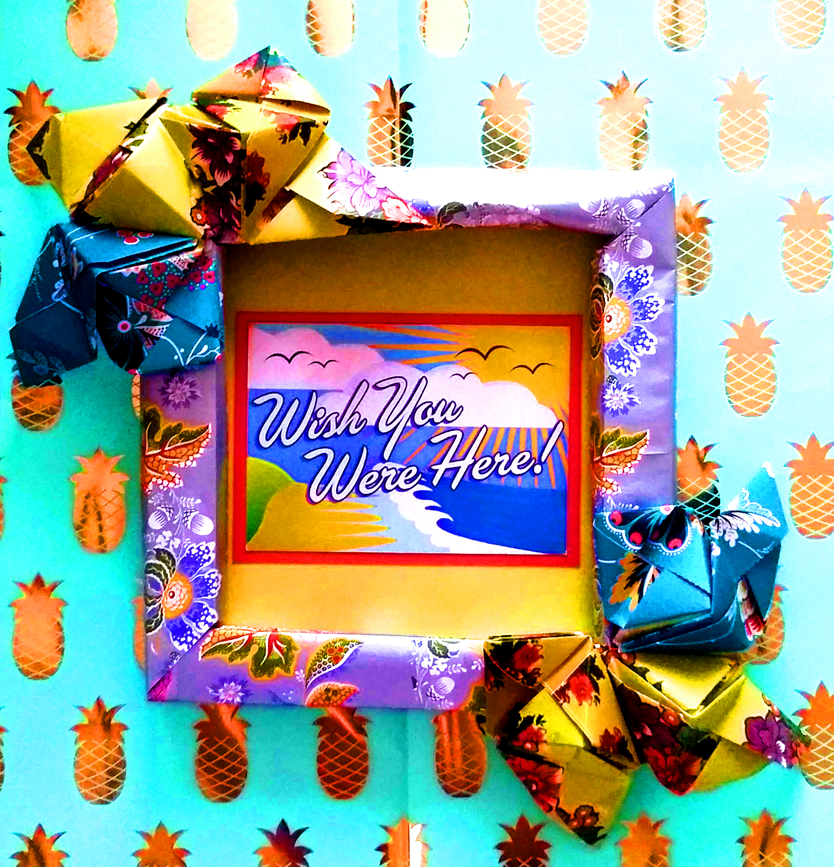 "ORIGAMI ""WISH YOU WERE HERE"" DESIGN"