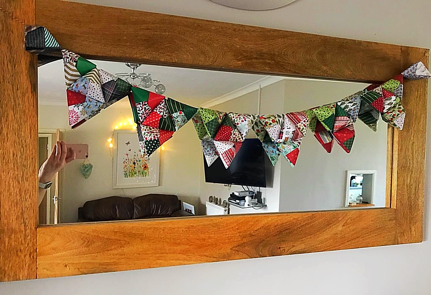 """Deck The Halls"" Bunting hung"