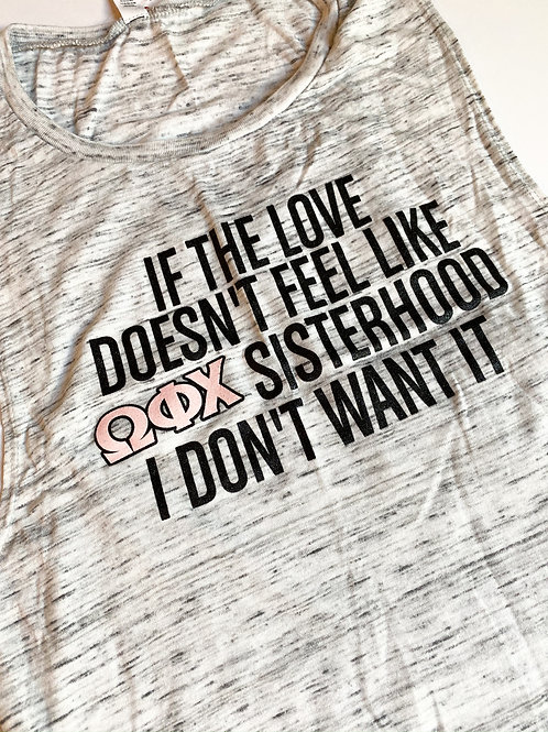 If the Love Muscle Tank in Marble Gray