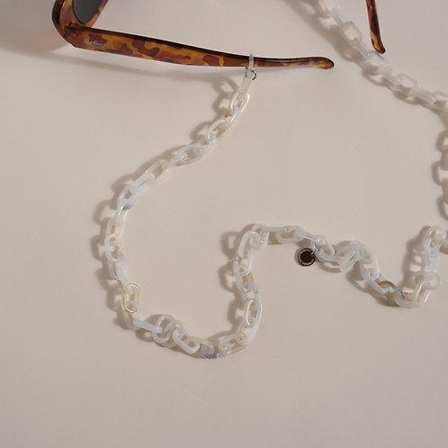 GLASSES CHAIN - classic white melange