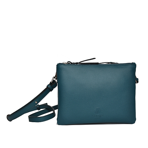 CLUTCH BAG petrol / avocado