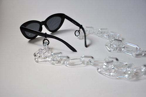GLASSES CHAIN - MILANO white transparent