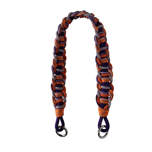 MAKRAMEE STRAP - Los Angeles purple/orange kurz