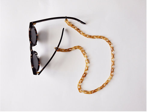 GLASSES CHAIN - beige turtle