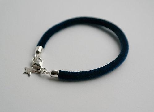 BRACELET - VELVET petite BLUE