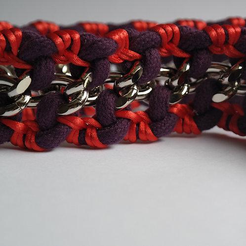 BAG STRAP - purple/orange, size M
