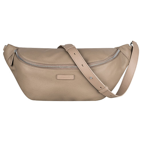 HIP BAG taupe silver