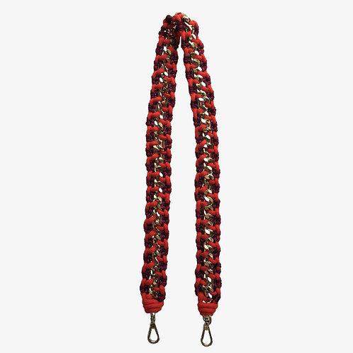 BAG STRAP - red/bordeaux, size M