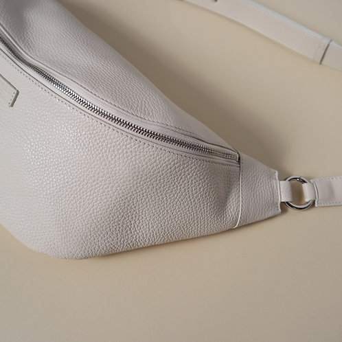 HIP BAG maxi cream - silver