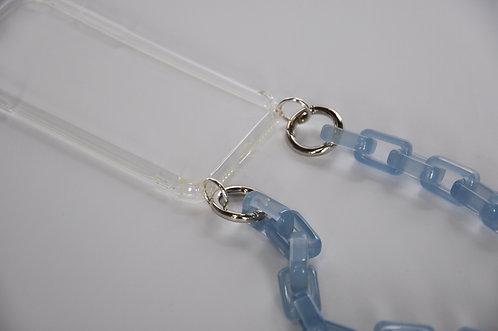 PHONE NECKLACE - blue jelly / 3in1 (=Smartphonekette, Halskette und Gürtel)