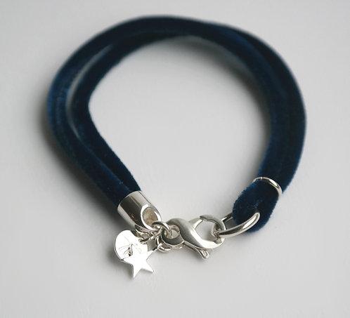 BRACELET - VELVET classic BLUE