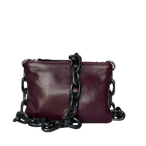 CLUTCH BAG purple / bordeaux & Roma carbone