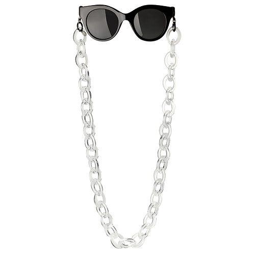 BRILLENKETTE - BETTY white transparent