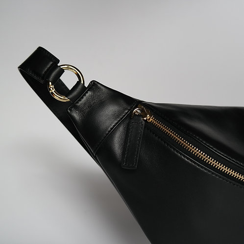 HIP BAG maxi black - light gold