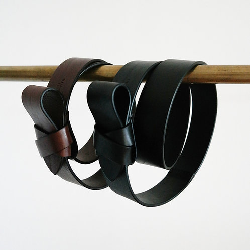 BELT bow - brown