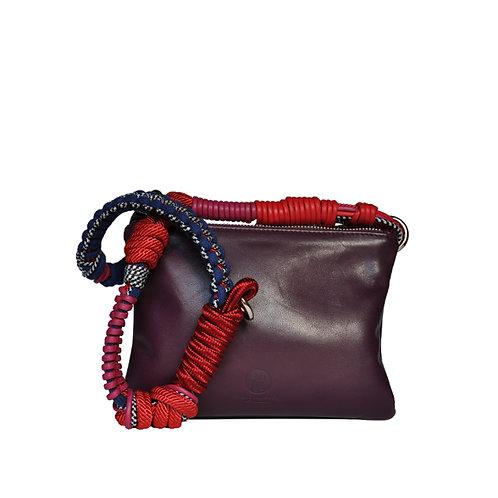 CLUTCH BAG purple/bordeaux & BAG STRAP Barcelona