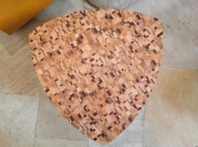 Table basse Pick - Mosaïque de bois
