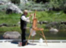 Plein air painting instructor Tom Hughes