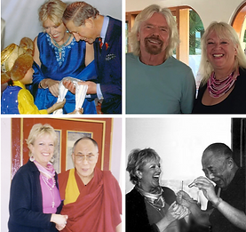 Linda Dalai Lama Prince Charles Sir Richard Branson