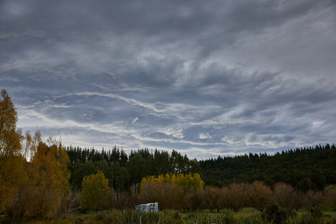 Unusual cloud formations crated by the Nor'wester wind. Landscape photography by Alasdair Jardine