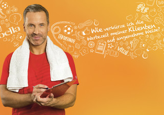 Fitness Trainer. Advertising Photography by ALasdair Jardine for Leserkreis Daheim.