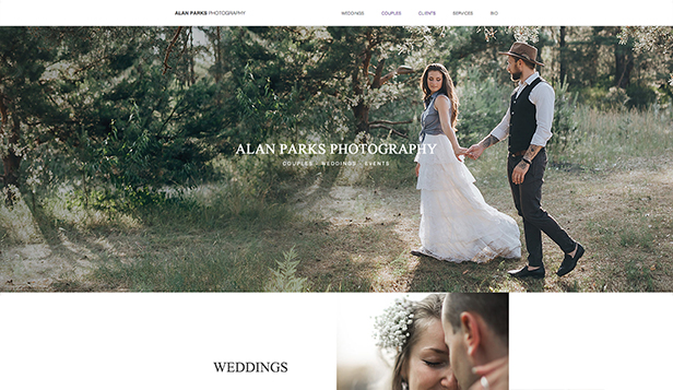 Eventer og portretter website templates – Parfotografi