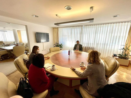 Meeting Between the Directors of the Confucius Institute and Minister Rajcevic