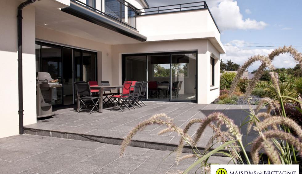 Maison contemporaine à vendre à DOELAN bretagne sud |  maisondebretagne.com