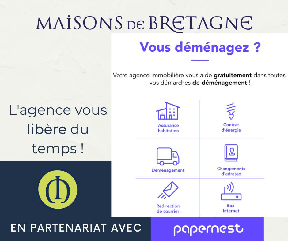 En partenariat avec Papernest, l'agence Maisons de Bretagne aide gratuitement ses clients dans leurs démarches de déménagement.
