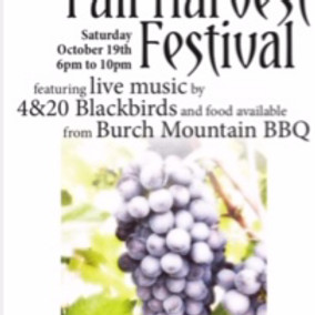 Live Music, BBQ and Wine Harvest Event
