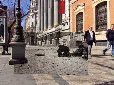 Bombas sin estallar. Calle Alcalá.