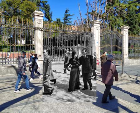 Plaza de Cibeles. 1940.