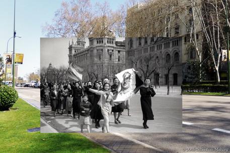 Franco girls. Paseo del Prado.