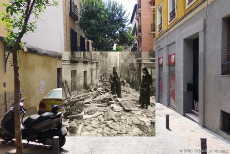 Escombros en Malasaña.