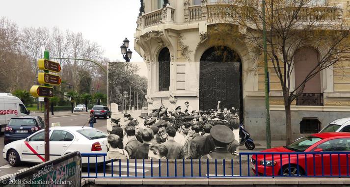 Asalto al Cuartel de la Montaña. Plaza España.
