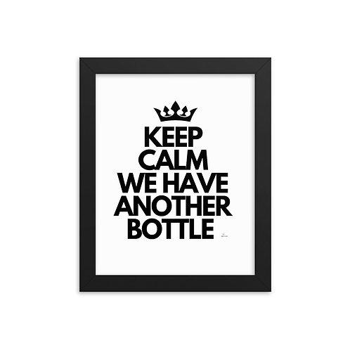 Keep calm Framed poster